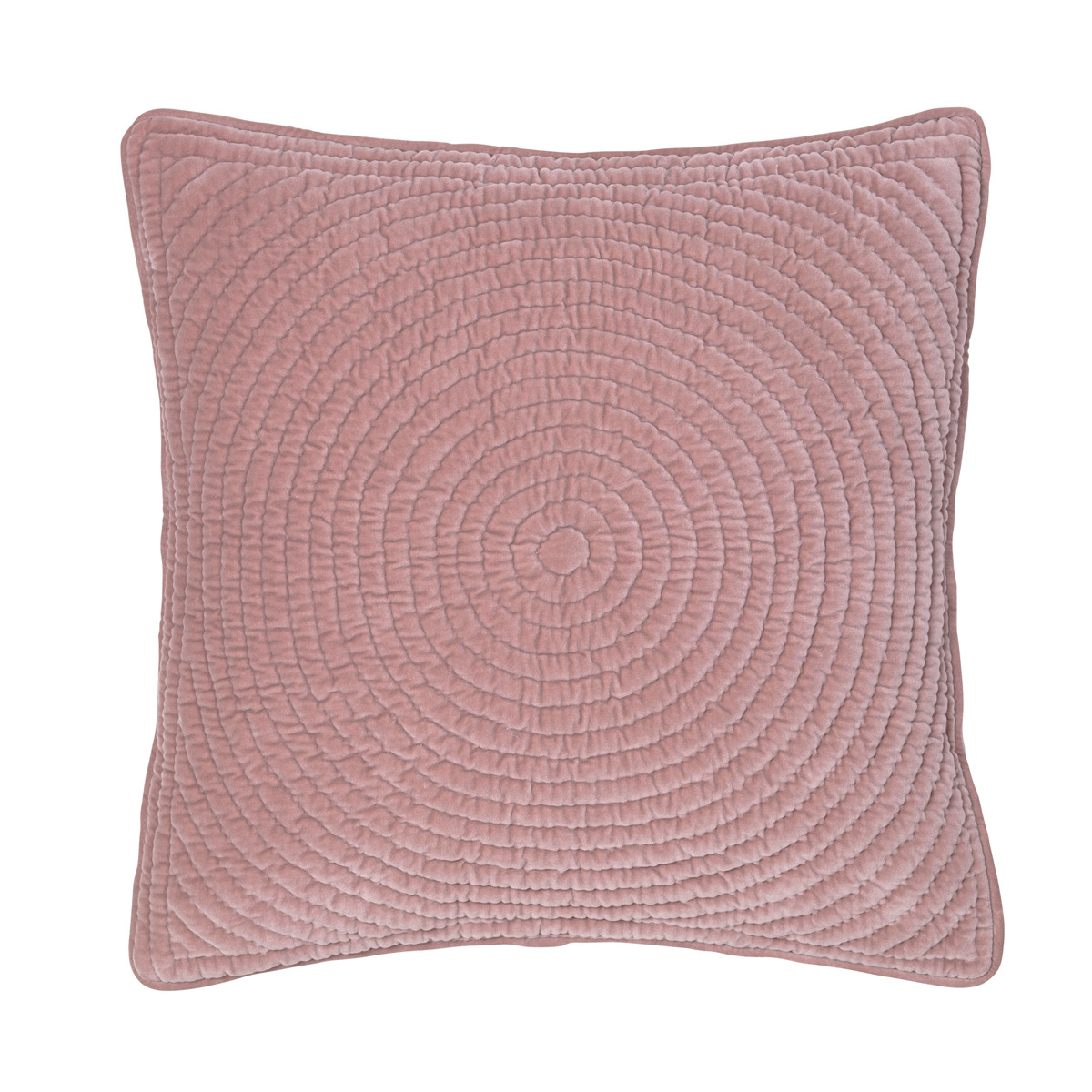 dusty pink velvet cushion