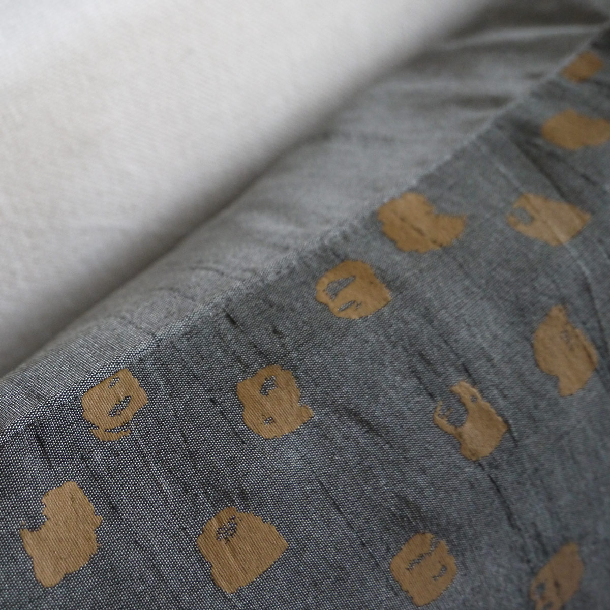 lifestyle-grey & mustard-dot-cushion
