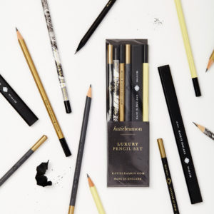 Katie Leamon gold & black luxury pencil set