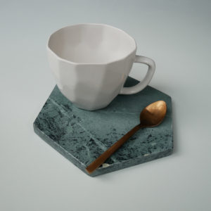 white-geometric-mug-on-green-hex-marble-liv-interiors
