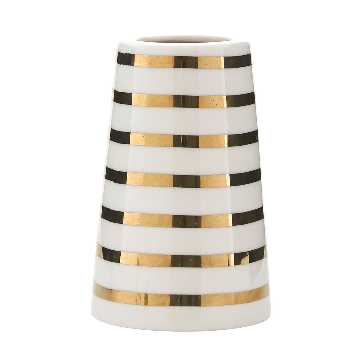 Gold Sailor Stripes Vase