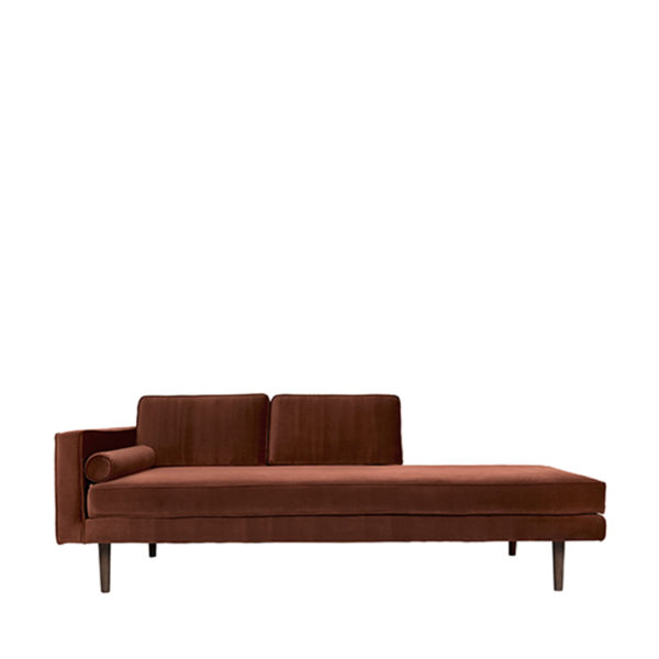Burnt Orange Velvet Chaise Longue Broste Copenhagen