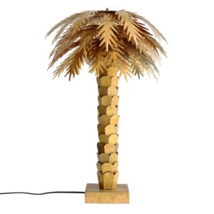 Brass Palm Table Lamp HKLiving