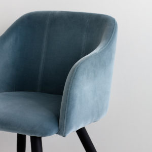 Broste-copenhagen-Blue-Velvet-Dining-Chair