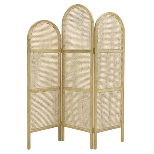 HK Living Rattan Room Divider Natural