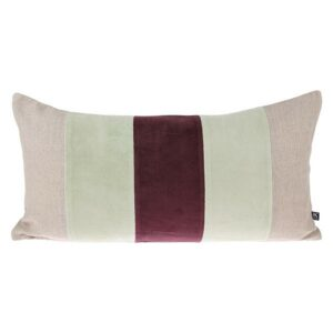 tku2063_eg Velvet Cerise & Mint Cushion